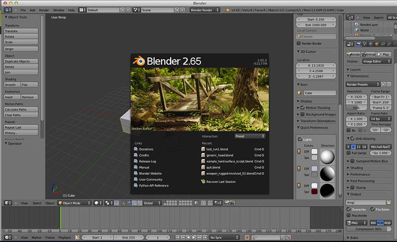 blender操作画面